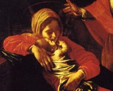 The Adoration of the Shepherds, Caravaggio - detail